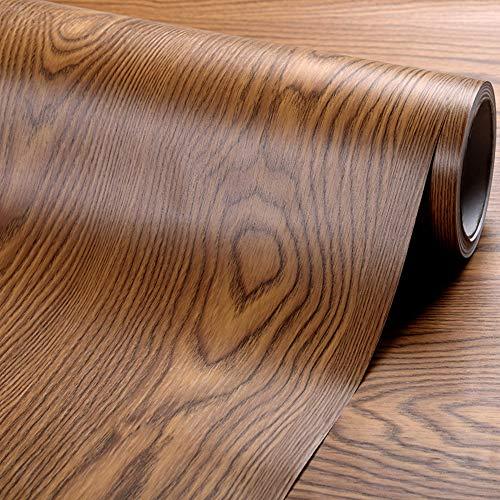 Vinilo autoadhesivo madera nogal oscuro rústico armarios