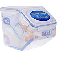 Lock & Lock PP Dry Food Container 5 Liter with Plastic Lid HPL700, Clear