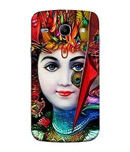 PrintVisa Designer Back Case Cover for Samsung Galaxy Core I8260 :: Samsung Galaxy Core Duos I8262 (Cartoon Flute Janmashtami Culture Mandalaavatar Bhagavan Beautiful Birthday)
