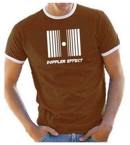 DOPPLER EFFECT - T-Shirt, Braun-Ringer Gr.XXL