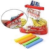 KaariFirefly 5 Pcs Home Food Close Clip Seal Bags Plastic Storage Sealing Rods Sealer Clips