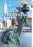 Grußkarte A5 +++ MIT MUSIK & LICHT von modern times BENTINO +++ zum Geburtstag Freiheitsstatue +++ Wegmann Set
