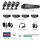 ANNKE CCTV Camera Systems HD 1080P Lite 8+2CH DVR Recorder w/ 4x 720P HD Outdoor Bullet Camera, All-weather Adaptation, Email Alert with Images, 20M Night Vision, Advanced H.264+ Compression, NO Hard Drive