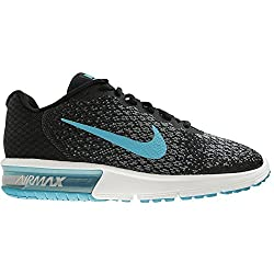 Nike Mens Air Max Sequent 2 Black Running Shoes(852461-004) (UK-8 (US-9))