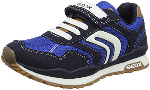 Geox Jungen J Pavel B Low-Top Sneaker, Blau (Navy/Royal), 35 EU