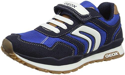 Geox j pavel b, sneaker bambino, blu (navy/royal), 32 eu
