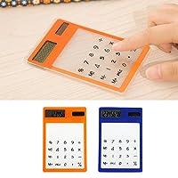Suweqi Touchscreen LCD Display Solar Calculator Slim Ultra-thin Mini 8Creative Students Stationery