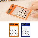 Freshsell Mini-Taschenrechner, ultradünn, solarbetrieben, LCD-Touchscreen, 8-stellig