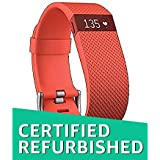 (Renewed) Fitbit Charge HR Heart Rate and Activity Wristband, Small (Tangerine)