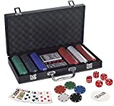 WISHKEY 300 pcs Casino Style Ceramic Poker Chips Set with a Heavy Duty