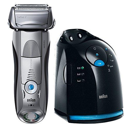 Braun 799CC-7 Máquina de afeitar de láminas Recortadora Negro, Plata - Afeitadora (Máquina de afeitar de láminas, Negro, Plata, Batería, Ión de litio, 5 min, 1 h)