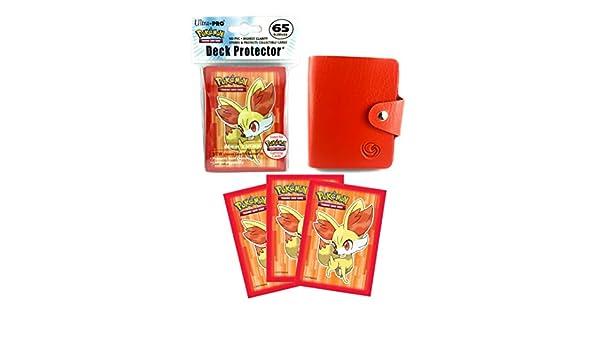 Sachet De 65 Protege Cartes Pokemon Feunnec 1 Mini Classeur Rouge 30 Pochettes