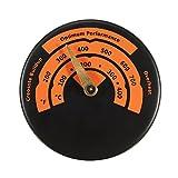RVSMDA Ofenrohr Rohr Thermometer Holz Brenner festbrennstoffen betriebenen magnetisch Temperatur Gauge
