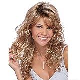 Frauen Lange Blonde Perücke Gewelltes Lockiges Haar Natürliche Synthetische Hochwertige Perücke (27,5 '' / 70 cm)