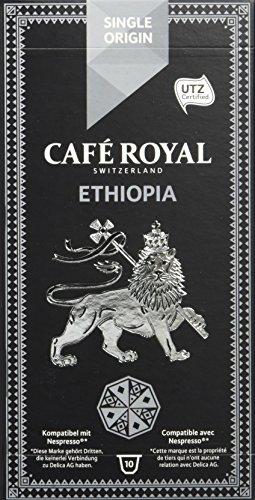 Café Royal Ethiopia Single Origin, 50 kompatible Kapseln für Nespresso, 5er Pack (5 x 10 Kapseln)