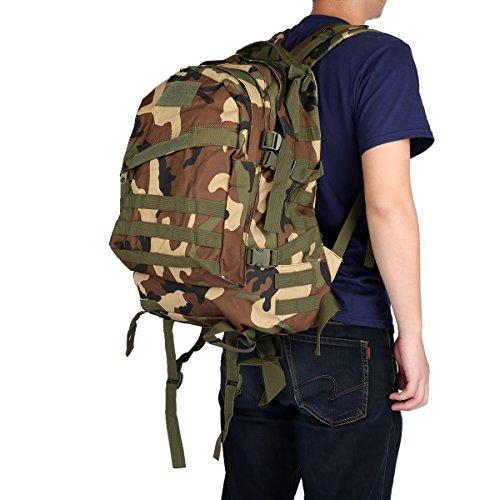 Imagen de 40l 3d  ataque bolsa de táctica camuflaje aire libre tela de nylon, correa ajustable , viaje, deporte, militar, ejercicio, cámping, grande  camuflaje del bosque  alternativa