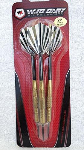 set di freccette in acciaio blister 3pezzi peso 22gr punte in metallo, ideale per l' allenamento