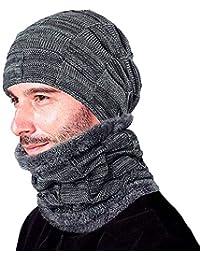 1 cappello set Beanie di inverno della sciarpa del caldo Cappello di lana  spessa protezione del 90af987d6fe6