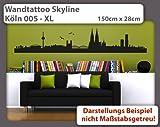 Wandtattoo Skyline Köln 005 - Größe: XL - 150cm x 28cm - 23 mögliche Farben