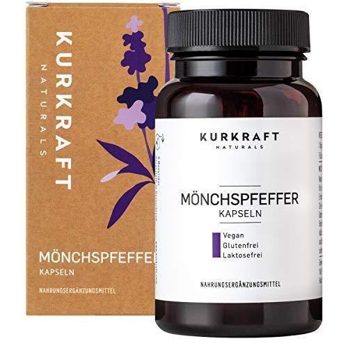 Kurkraft Mönchspfeffer Extrakt (180 Kapseln) - Original Vitex Agnus Castus - 10mg Extrakt je Kapsel...