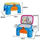 Lernen Set Magnettafel mit Tisch Spielzeug zum Zeichnen und Lernen für Kinder ab 3 Jahren - 6