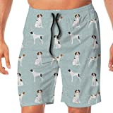 Nicegift English Pointer Pet Quilt D Dog Breed Quilt Coordinate Surfing Pocket Elastic Waist Men's Beach Pants Shorts Beach Shorts Swim Trunks XX-Large