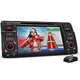 XOMAX XM-46B Autoradio passend für 3er BMW E46 I Naviceiver mit GPS Navigation NAVI Software mit Europa Karten I Bluetooth I 18cm / 7