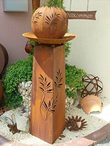 'Grille Inox Colonne/Sculpture \\
