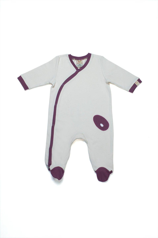 Pandi Panda-Pijama marrón Tulipwood Talla:0 a 3 meses 1