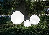 Buvtec - Set di 3 sfere luminose da 20, 30e 40cm, luce continua o alternata, 7 colori chiari, durata di 8 ore-