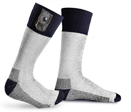 Warmawear Beheizbare Socken mit Leuchtstreifen, batteriebetrieben - Groß (L)