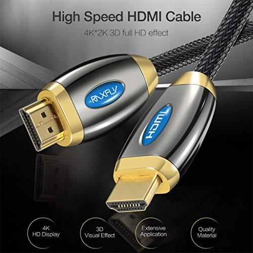 TianranRT♕ Interne Tv Antenne, Hdmi V2.0 3D 1080P Ethernet Kabel 4K 60Hz Led Lcd Hdtv Für Pc 1/3/5 M, Schwarz