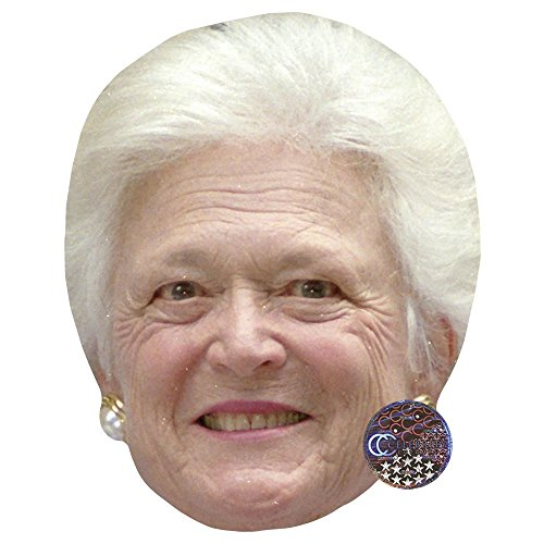 Celebrity Cutouts Barbara Bush Maske aus Karton (Bush-maske)