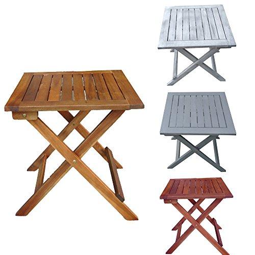 Promafit Klapptisch aus Holz Dionysos – perfekt für den Balkon oder Camping – Eukalyptus Massivholz – Beistelltisch – Gartentisch – klappbar – Vintage – Retro – viele Farben –