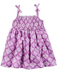 Carters Baby Girls Geo Poplin Dress 9 Months