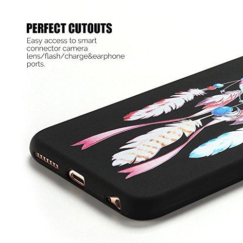 Coque iPhone 6S Plus , Etui iPhone 6 Plus TPU Case Silicone Transparente Slim Souple Étui de Protection Flexible Soft Cover avec Motif Spécial Anti Choc Ultra Mince Integrale Couverture Bumper Caoutch Wind Chimes