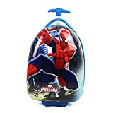 #4: Egg Shape ( Spider Man ) 16 Inch ( 40 CM) Hard Side Water Proof Poly carbonate 360 Rotating Exclusive Printed Pattern Fashionable Smart School Bag For Kids Comfortable And Ergonomic Handle Carry Luggage Bag For Children 2 Single Spinner Wheel trolley Bag For Boy Girls For Travel Tourist Cabin Luggage's Bag