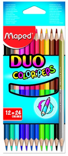 Maped M829600 - Buntstifte Color Peps Duo, 12-er Packung, 24 farben
