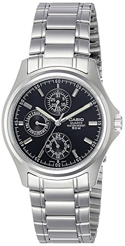 Casio Enticer Black Dial Men's Watch - MTP-1246D-1AVDF  (A220)