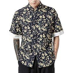 ZhuiKunA Hombres Vintage Japonés Kimono Camisa Haori Estampado Holgado Cárdigan C615 5XL