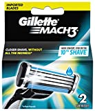 #8: Gillette Mach 3 Manual Shaving Razor Blades - 2s Pack (Cartridge)