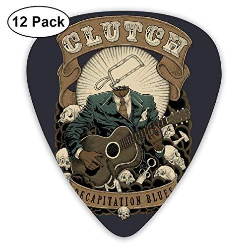 Fashion CLUTCH DECAPITATION BLUES Plektren (12 Stück) Für E-Gitarre, Akustikgitarre, Mandoline und Gitarrenbass