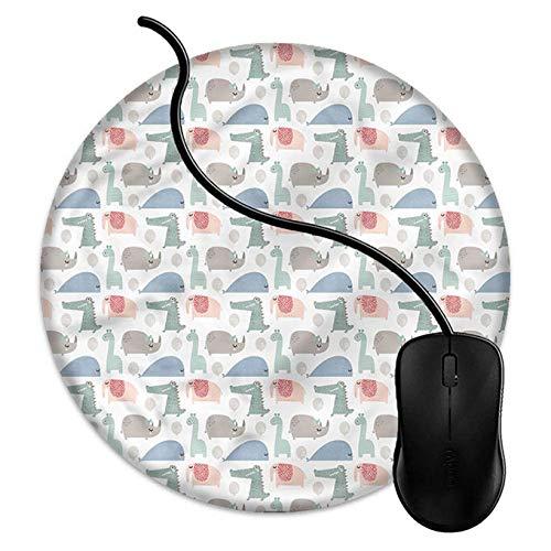 Bxosda Rundes Gaming-Mauspad mit individuellem Design, 20,3 cm, Rutschfeste Gummi-Mauspad für Desktops, Computer, PC und Laptops, Party-Tiere