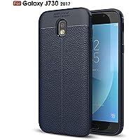 Shinyzone Weich TPU Silikon Zurück Hülle für Samsung Galaxy J7 2017,Ultra Dünn Flexibel [Navy Blau] Litschi Textur... preisvergleich bei billige-tabletten.eu
