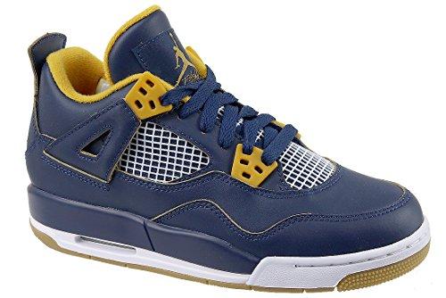 official photos c8bcd 3b18b Jordan Air 4 Retro BG, Chaussures de Sport garçon, Azul Blanco (Mid
