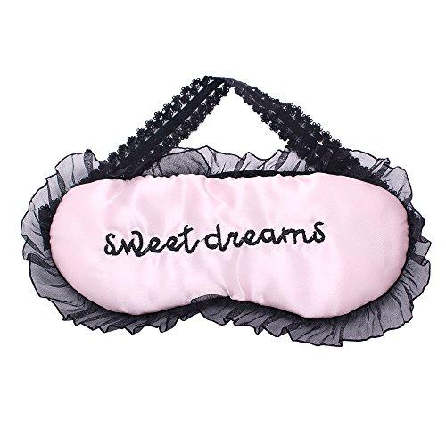 Lace Shades (Homgaty Travel Lace Sleep Eye Mask Comfortable Blindfold Shade Sleeping Masks (Pink) by Homgaty)