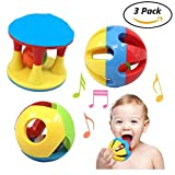 #2: Babytintin Colorful Flexible Attractive Non Toxic 3 Pic Ball Rattle for Babies,Toddlers,Infants,Child (3 Pic Rattle)