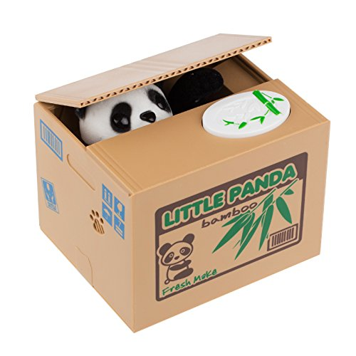 Especificación:   Tipo: Hucha  Material: ABS  Color: Gato Amarillo / Gato Blanco / Panda  Batería: 2 * batería AA (no incluida)  Tamaño: 12 * 10 * 9 cm / 4.7 * 3.9 * 3.5 pulgadas  Peso neto: 0.315kg / 11.1oz    Paquete incluido   1 * Hucha  1 * manu...