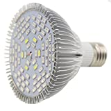 Specification: 1. Light Source: 78pcs LED Light, 42red + 18blue + 6white + 6IR + 6UV 2. size: 9.3 * 9.6 cm/3.66 * 3.78 inches 3. Weight: 0.18 kg 4. certification: CCC, CE, RoHS, 5. Life: 20000hours. 6. Shell Material: Aluminum alloy. 7 Watt lampadina...