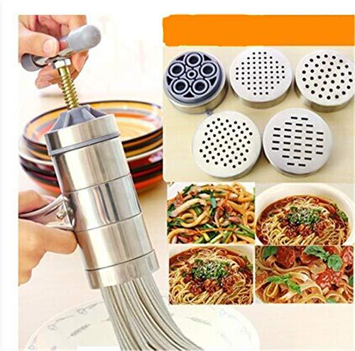 MUUZONING Máquina para Hacer Pasta Fresca Prensador Acero Inoxidable Noodle Maker Vegetal...